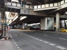 BANGKOK BTS Skytrain at Asok station Stock Photo