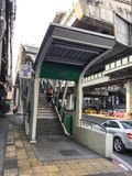 BANGKOK BTS Skytrain at Asok station Royalty Free Stock Photos