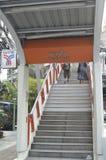 BANGKOK BTS Skytrain at Phoya Thai station Stock Image