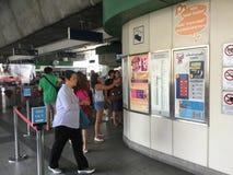 BANGKOK BTS Skytrain at Phoya Thai station Royalty Free Stock Photography