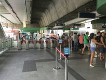 BANGKOK BTS Skytrain at Phoya Thai station. Thailand BANGKOK BTS Skytrain at Phoya Thai station , Thailand Stock Image
