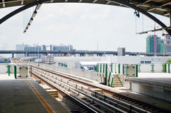 BANGKOK BTS Skytrain at  Thailand. Royalty Free Stock Image