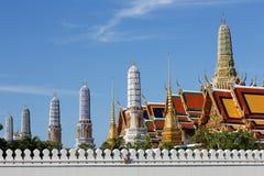 bangkok buddha smaragdtempel thailand Arkivbilder