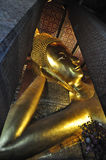 bangkok Buddha twarzy złocisty pho target598_0_ statuy Thailand wat bangkok pho Thailand wat Zdjęcia Stock