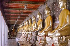 bangkok buddhas tusen arkivfoton