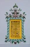 bangkok buddistiskt klosterfönster Royaltyfri Fotografi