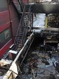 bangkok budynków ucieczki ogień patroszyjący Fotografia Stock