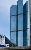bangkok budynku wysoki wzrosta nieba pociąg Obraz Stock