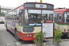 Bangkok bus car number 49. Number 49  banglumpoo Bangkok bus car on the road city thailand Royalty Free Stock Photography