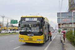 Bangkok bus car number 207 pangna roag bus Royalty Free Stock Photo