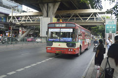 Bangkok bus car Royalty Free Stock Photo