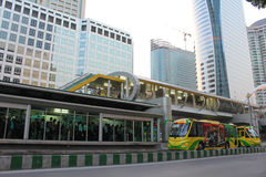 Bangkok Bus Rapid Transit Station Royalty Free Stock Photography
