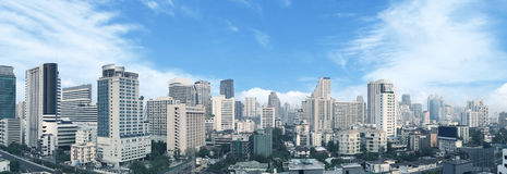 Bangkok business center panorama view. Royalty Free Stock Photography