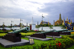 Bangkok byggdes mest berömda landmark 1782. Slottconcluen arkivbild