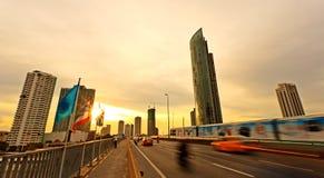 Bangkok, capital city of Thailand at sunset Royalty Free Stock Image