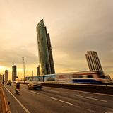 Bangkok, capital city of Thailand at sunset Royalty Free Stock Photos