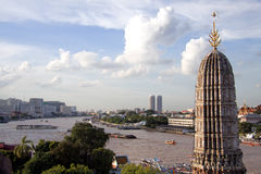 Bangkok, Chao Phraya and Wat Arun. Thailand, Bangkok, Chao Phraya River and Wat Arun Stock Images