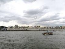 bangkok chao praya rzeka Thailand zdjęcia royalty free