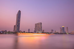 Bangkok Chao Praya Scape. Bangkok Chao Praya Night Scenes Royalty Free Stock Images