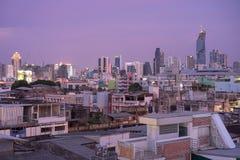 Bangkok Chaotyczna linia horyzontu Obrazy Royalty Free