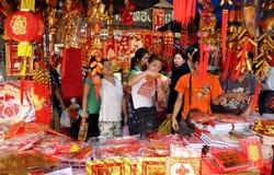 bangkok chińskich dekoracj nowy Thailand rok Fotografia Stock