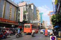 Bangkok China Town. China Town Street Scene In Bangkok Thailand stock photo