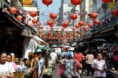 bangkok chinatown färgglada thailand Royaltyfria Bilder