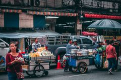 Bangkok, 12.11.18: Chinatown royalty free stock image