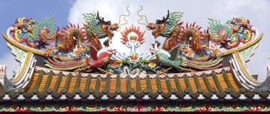 bangkok chinatown tempel thailand royaltyfri fotografi