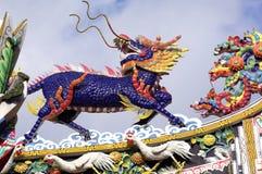 bangkok chinatown tempel thailand royaltyfri foto