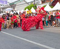BANGKOK, Chinatown/THAILAND- 10 de febrero: Año Nuevo chino chino de las tradiciones del Año Nuevo Imagen de archivo libre de regalías