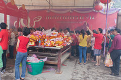 BANGKOK, Chinatown/THAILAND- 10. Februar: Chinesisches Neujahrsfest Stockbilder