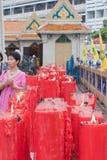BANGKOK, Chinatown/THAILAND- 10. Februar: Neujahrsfesttraditionen Chinesisches Neujahrsfest Lizenzfreie Stockbilder
