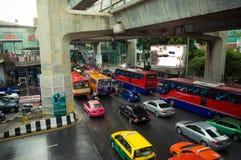 bangkok ciężki ruch Obrazy Stock