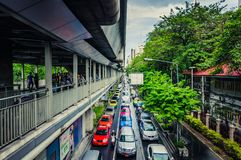 bangkok ciężki ruch Zdjęcia Stock
