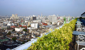 Bangkok City. View of Bangkok's sky line from the 23rd floor. Thailand Stock Image