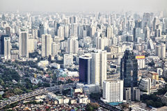 Bangkok city. View from above, Thailand Stock Photos