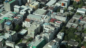 Bangkok city aerial view. Bangkok city Busy Street Aerial view, real time video stock video