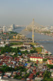 Bangkok city along chao praya river Stock Photography