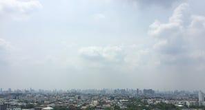Bangkok City background. Bangkok City with building on cloudy day background Thailand royalty free stock photos