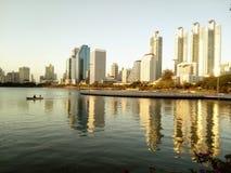 Bangkok city. Benjakiti park Stock Photo