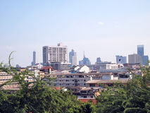 Bangkok city bird eye view Royalty Free Stock Photography