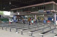 Bangkok city bus station Morchit terminal street view in  thailand. Stock Images