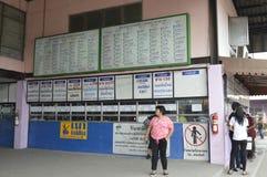 Bangkok city bus station Morchit terminal street view in  thailand. Stock Photos