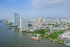 Bangkok City at Chao Phraya River Royalty Free Stock Image
