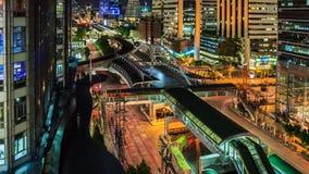 Bangkok city, Chong Nonsi skywalk Royalty Free Stock Photos