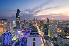 Bangkok City. Cityscape photography of Bangkok, Thailand, at twilight Royalty Free Stock Images