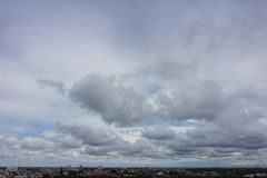 Cloudy sky background. Bangkok City with Cloudy sky background stock photos
