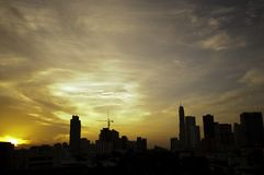Bangkok City at Dawn Royalty Free Stock Images