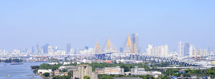Bangkok city. Day view with main traffic Stock Photography